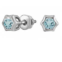 Сережки зі срібла з куб. цирконіями 182336