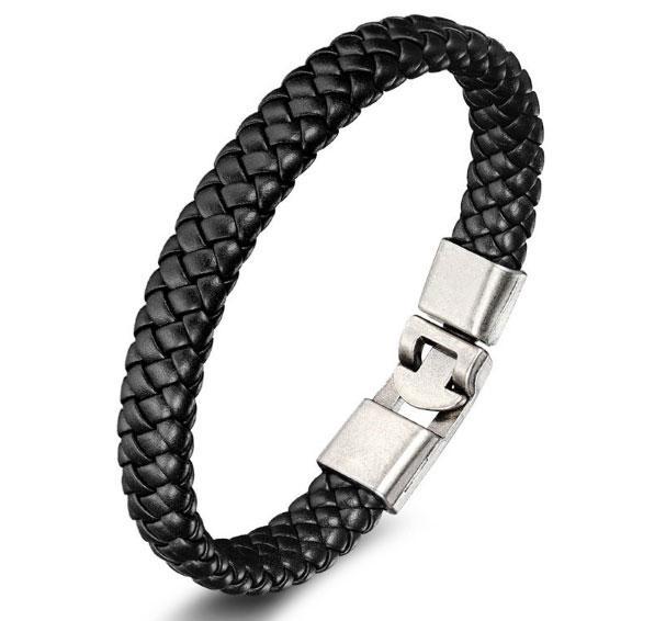 Мужской кожаный браслет Primo Rock