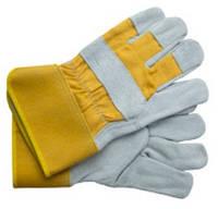 Перчатки комбинированные замшевые плотные