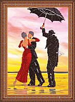 """Набор для вышивки бисером на натуральном художественном холсте """"Под дождем"""""""