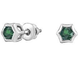 Сережки зі срібла з куб. цирконіями 182343