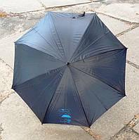 Зонт черный с синим куполом внутри