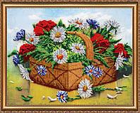 """Набор для вышивки бисером на натуральном художественном холсте """"Лукошко лета"""""""
