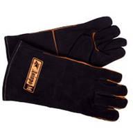 """Перчатки для сварки """"Днепро-М"""" (краги замш, с подкладкой, черные)"""