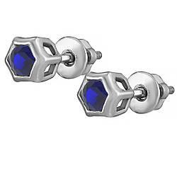 Сережки зі срібла з куб. цирконіями 182329