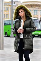 Женская зимняя куртка на натуральной овчине