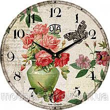 """Часы настенные """"Цветы в вазе"""" круглые"""