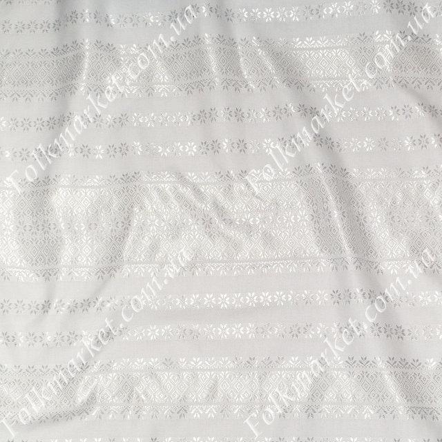 Белая ткань с белой вышивкой Наречена ТДК-121 1/1