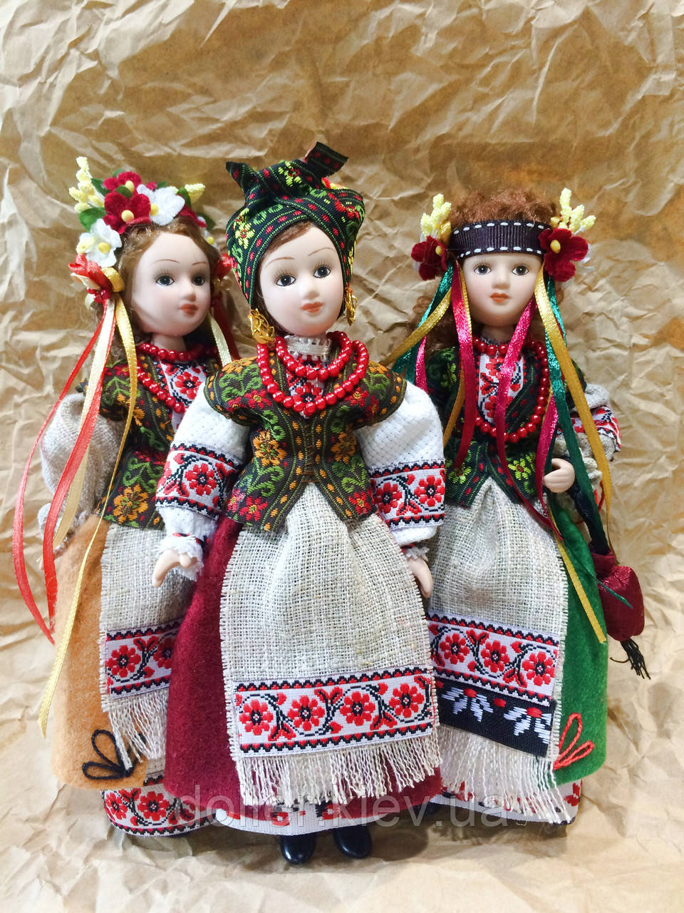 Сувенирная кукла в украинском народном костюме (16 см ...