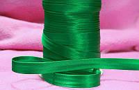 Косая бейка атласная светло-зеленая