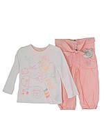 Детский Комплект: джемпер, брюки для девочки 6 мес. - 2 года