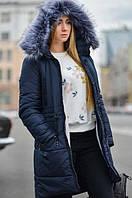 Женская зимняя куртка (парка) на натуральном меху