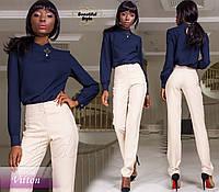Женская темно-синяя блузка с длинными рукавами Vitton