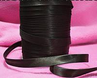 Косая бейка атласная, цвет темно-коричневый