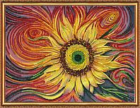 """Набор для вышивки бисером на натуральном художественном холсте """"Солнцебиение"""""""
