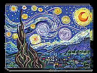 """Набор для вышивки бисером на натуральном художественном холсте """"Звездная ночь"""""""