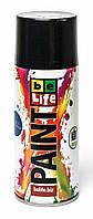 Аэрозольная краска Belife 350мл 4 черная матовая