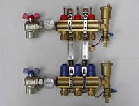 Коллектор теплого пола на 2 контура для низкотемпературных систем
