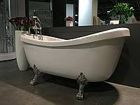 Ванна отдельно стоящая, на серебряных львиных лапах 1730*800*840 мм, акриловая