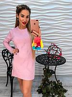Красивая розовая туника с жемчужинами