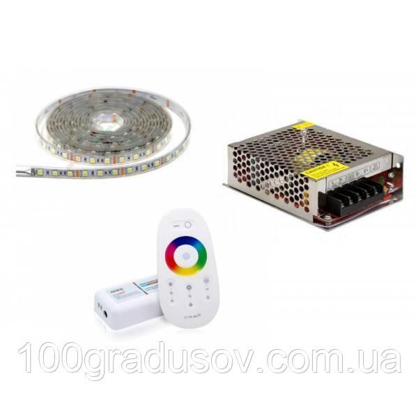 Светодиодное освещение RGB для бани (комплект 5м)