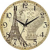 "Часы настенные ""Эйфелева башня"" круглые"