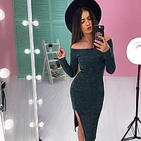 Трикотажное платье с разрезом, Мелисса