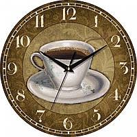 """Часы настенные """"Бодрящий кофе"""" круглые"""
