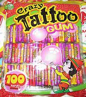 """Жевательная резинка """"Crazy Tatto"""" с татуировкой 100шт"""