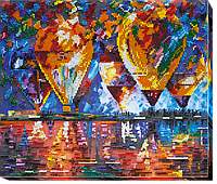 """Набор для вышивки бисером на натуральном художественном холсте """"Воздушные шары"""""""
