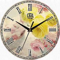 "Часы настенные ""Желтые розы"" круглые"
