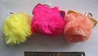 Брелок помпон с ушками, цветной, искусственный мех №1139-9