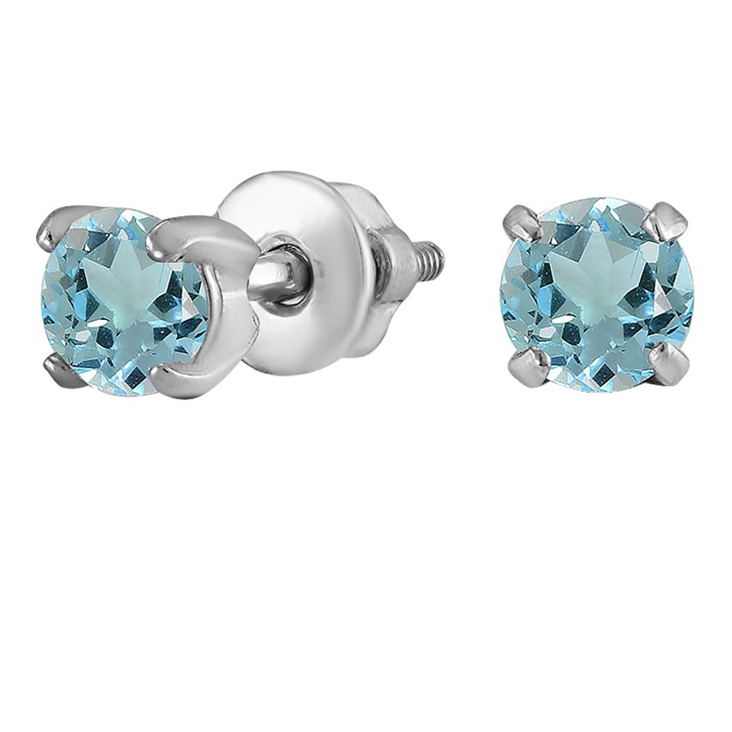 Серьги из серебра с куб. циркониями  182251
