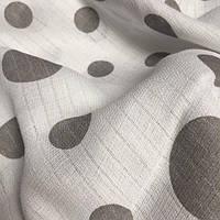 Муслин для детских пеленок серые горохи на белом №2-2