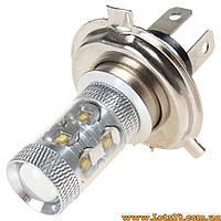 Авто-лампы H4 10 CREE LED 6000K (светодиодные лед лампочки, лучше за галогеновые, ксенон, ДХО, DRL)