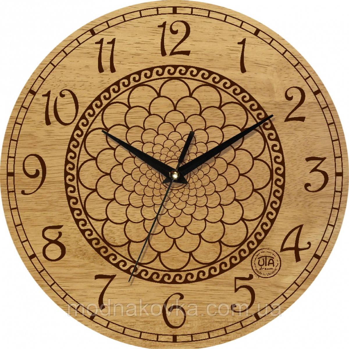 """Часы настенные """"Геометрия"""" круглые деревянные"""
