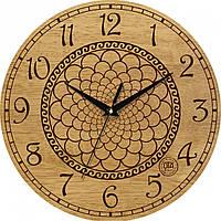 """Часы настенные """"Геометрия"""" круглые деревянные, фото 1"""