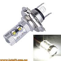 Авто-лампы H4 10 CREE LED 6000K (светодиодные, лучше за галогеновые и ксеноновые DRL и ДХО)