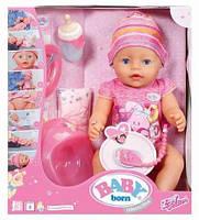 Детская интерактивная кукла Baby Born + 15 аксессуаров. Польша.