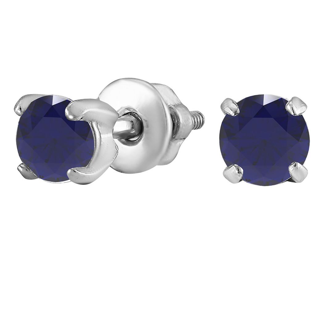 Серьги из серебра с куб. циркониями  182268