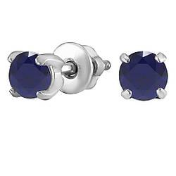 Сережки зі срібла з куб. цирконіями 182268
