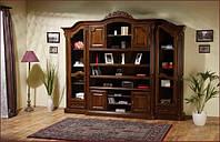 Книжный шкаф с 2-мя стеклянными дверками