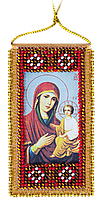 """Набор для вышивки бисером на натуральном художественном холсте """"Молитва к Божией матери о детях""""  (укр. язык)"""