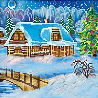 Схема для вышивки бисером на натуральном художественном холсте Рождественский вечер