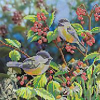 Схема для вышивки бисером на натуральном художественном холсте Утро в лесу