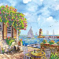 Схема для вышивки бисером на натуральном художественном холсте На берегу