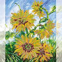 Схема для вышивки бисером на натуральном художественном холсте Солнечные цветы
