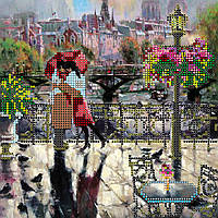 Схема для вышивки бисером на натуральном художественном холсте Объятия Парижа