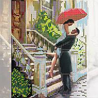 Схема для вышивки бисером на натуральном художественном холсте Свидание под дождем