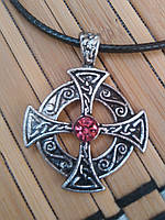 Амулет оберег Кельтский Крест с чернением